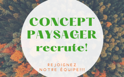Concept Paysager recrute!